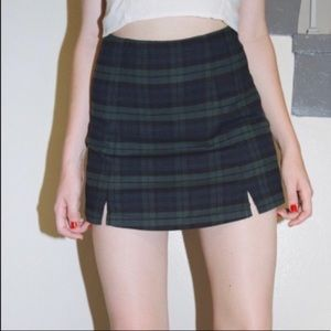 Brandy Melville Plaid High Waist Skirt